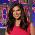 Roselyn Sanchez smiles during a visit to Access Hollywood Live on February 23, 2012
