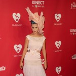 Katy Perry rocks a large pink hat at the 2012 MusiCares Person of the Year Tribute To Paul McCartney held at the Los Angeles Convention Center on February 10, 2012