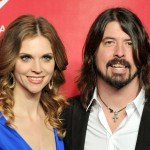 Jordyn Blum and Dave Grohl arrive at the 2012 MusiCares Person of the Year Tribute to Paul McCartney at the Los Angeles Convention Center on February 10, 2012