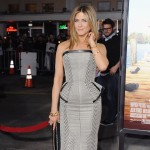 Jennifer Aniston arrives at the Los Angeles Premiere 'Wanderlust' at Mann Village Theatre, Los Angeles, on February 16, 2012