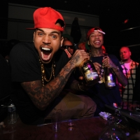 Chris Brown is spotted at Cameo in Miami, Flor., on February 19, 2012