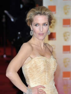 Gillian Anderson attends the Orange British Academy Film Awards 2012 at the Royal Opera House, London, on February 12, 2012