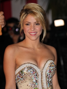 Shakira attends the NRJ Music Awards 2012 at Palais des Festivals, Cannes, France, on January 28, 2012