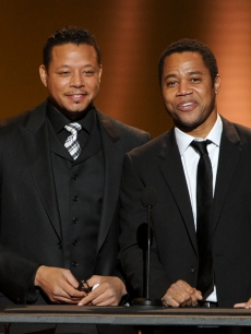 Terrence Howard and Cuba Gooding Jr. lead the tribute to George Lucas at the 43rd NAACP Image Awards held at The Shrine Auditorium, Los Angeles, on February 17, 2012