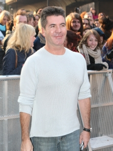 Simon Cowell attends the Britain's Got Talent London auditions day 2 at HMV Hammersmith Apollo on February 7, 2012