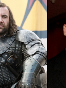 Rory McCann as Sandor Clegane, AKA 'The Hound' in HBO's 'Game of Thrones' (left), and at an event in 2007 (right)