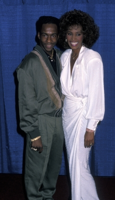 Bobby Brown and Whitney Houston, March 8, 1990