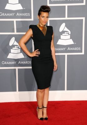 Alicia Keys arrives at the 54th Annual Grammy Awards held at Staples Center in Los Angeles on February 12, 2012