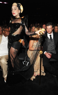  Lady Gaga is seen in the audience at the 54th Annual Grammy  Awards in Los Angeles on February 12, 2012