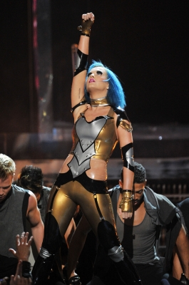 Katy Perry performs at the 54th Annual Grammy Awards held at Staples Center in Los Angeles on February 12, 2012