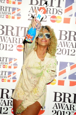 Rihanna at The Brit Awards 2012 at The O2 Arena, London, on February 21, 2012