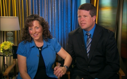 Michelle and Jim Bob Duggar stop by Access Hollywood on February 13, 2012