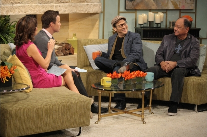 Cheech Martin and Rob Schneider talk with Billy Bush and Kit Hoover on Access Hollywood Live on February 15, 2012