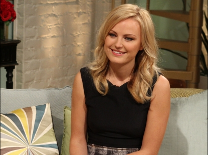 Malin Akerman stops by Access Holllywood Live on February 23, 2012