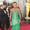 Viola Davis wears a green gown at the 84th Annual Academy Awards held at the Hollywood &amp; Highland Center in Hollywood, Calif. on February 26, 2012