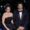 Tina Fey and Bradley Cooper speak onstage during the 84th Annual Academy Awards held at the Hollywood &amp; Highland Center in Hollywood, Calif. on February 26, 2012