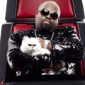 Cee Lo Green and Purrfect The Cat on NBC's 'The Voice'
