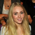 AnnaSophia Robb attends the Lela Rose Spring 2012 fashion show during Mercedes-Benz Fashion Week at The Studio at Lincoln Center, New York City, on September 11, 2011
