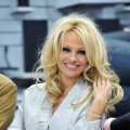 Pamela Anderson signs autographs at Lugner City in Vienna, Austria on March 05, 2012