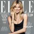 Heidi Klum appears on the April 2012 cover of ELLE magazine