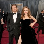 Brad Pitt and Angelina Jolie arrive at the 84th Annual Academy Awards held at the Hollywood & Highland Center in Hollywood on February 26, 2012