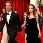 Brad Pitt and Angelina Jolie arrive at the 84th Annual Academy Awards held at the Hollywood & Highland Center, Hollywood, on February 26, 2012
