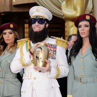 Sacha Baron Cohen, dressed as his character 'General Aladeen,' from 'The Dictator' arrives at the 84th Annual Academy Awards held at the Hollywood & Highland Center in Hollywood, Calif. on February 26, 2012