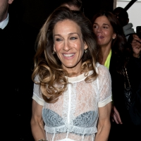 Sarah Jessica Parker sports a sheer top at the Louis Vuitton Ready-To-Wear Fall/Winter 2012 show as part of Paris Fashion Week in Paris on March 7, 2012