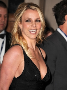 Britney Spears arrives at The Recording Academy's 2012 Pre-Grammy Gala And Salute To Industry Icons at The Beverly Hilton hotel in Beverly Hills, Calif. on February 11, 2012