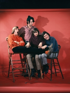 Davy Jones, Mickey Dolenz, Peter Tork and Mike Nesmith of the The Monkees pose for a portrait session circa 1967 in Los Angeles, California.