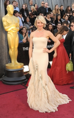Cameron Diaz steps out at the 84th Annual Academy Awards held at the Hollywood & Highland Center in Hollywood, Calif. on February 26, 2012