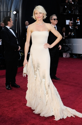 Cameron Diaz arrives at the 84th Annual Academy Awards in Hollywood, Calif., on February 26, 2012