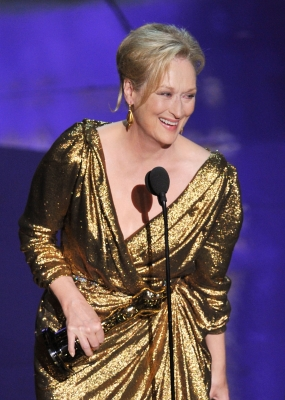 Meryl Streep accepts the Best Actress Award for 'The Iron Lady' onstage during the 84th Annual Academy Awards held at the Hollywood & Highland Center in Hollywood, Calif. on February 26, 2012