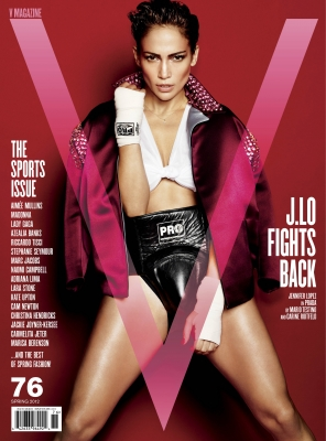 Jennifer Lopez on the cover of V Magazine (March 2012)