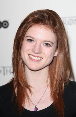 Rose Leslie attends the DVD launch of the complete first season of 'Game Of Thrones' at Old Vic Tunnels, London, on February 29, 2012