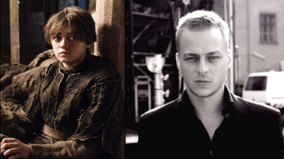 Maisie Williams as Arya Stark (left), Tom Wlaschiha (right)