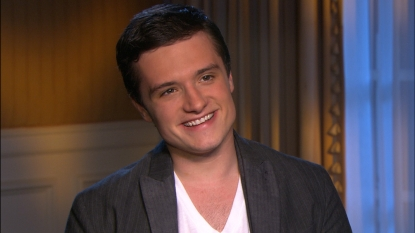 Josh Hutcherson chats with Access Hollywood at 'The Hunger Games' junket in Los Angeles on March 3, 2012
