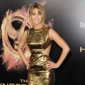 Jennifer Lawrence arrives at the premiere of 'The Hunger Games' at Nokia Theatre L.A. Live in Los Angeles on March 12, 2012