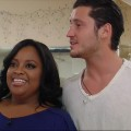 Sherri Shepherd and Val Chmerkovskiy rehearse for 'Dancing with the Stars' in New York City on March 15, 2012
