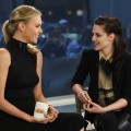 Charlize Theron and Kristen Stewart are all smiles on the set of NBC's the 'Today' show in New York City on March 19, 2012
