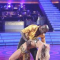 Donald Driver dips partner Peta Murgatroyd on the opening night of Season 14 of 'Dancing with the Stars,' March 19, 2012
