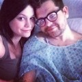 Jack Osbourne and Lisa Stelly  seen in the hospital in Los Angeles after his appendix removed on March 26, 2012
