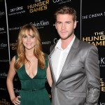 Jennifer Lawrence and Liam Hemsworth are seen at the Cinema Society & Calvin Klein Collection screening of 'The Hunger Games' in New York City on March 20, 2012