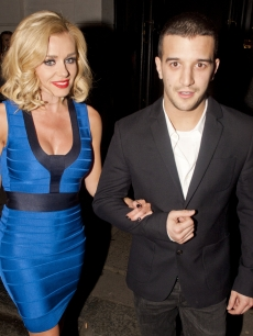Katherine Jenkins and &#8216;Dancing With The Stars&#8217; partner Mark Ballas at The Brompton Club in Kensington, London, on March 3, 2012