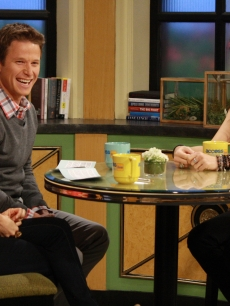 Kit Hoover, Billy Bush and Shannon Elizabeth share a laugh on Access Hollywood Live on March 14, 2012