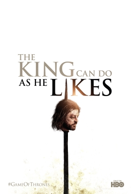Eddard 'Ned' Stark's head on a spike in the latest promotional poster for HBO's 'Game of Thrones' Season 2