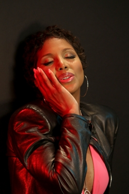 Toni Braxton is seen on the set of her new music video for 'I Heart You' in Los Angeles on March 18, 2012