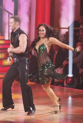 William Levy and Cheryl Burke cha cha on the opening night of Season 14 of &#8216;Dancing with the Stars,&#8217; March 19, 2012