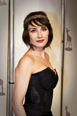 Carice van Houten poses as she arrives for the Golden Calf 2011, the award of the Netherlands Film Festival at the City Theatre in Utrecht, on September 30, 2011