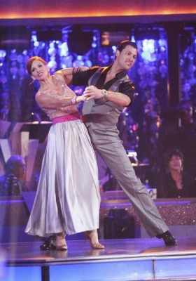 Melissa Gilbert and Maksim Chmerkovskiy tackle the quickstep on &#8216;Dancing with the Stars,&#8217; Week 2, March 26, 2012